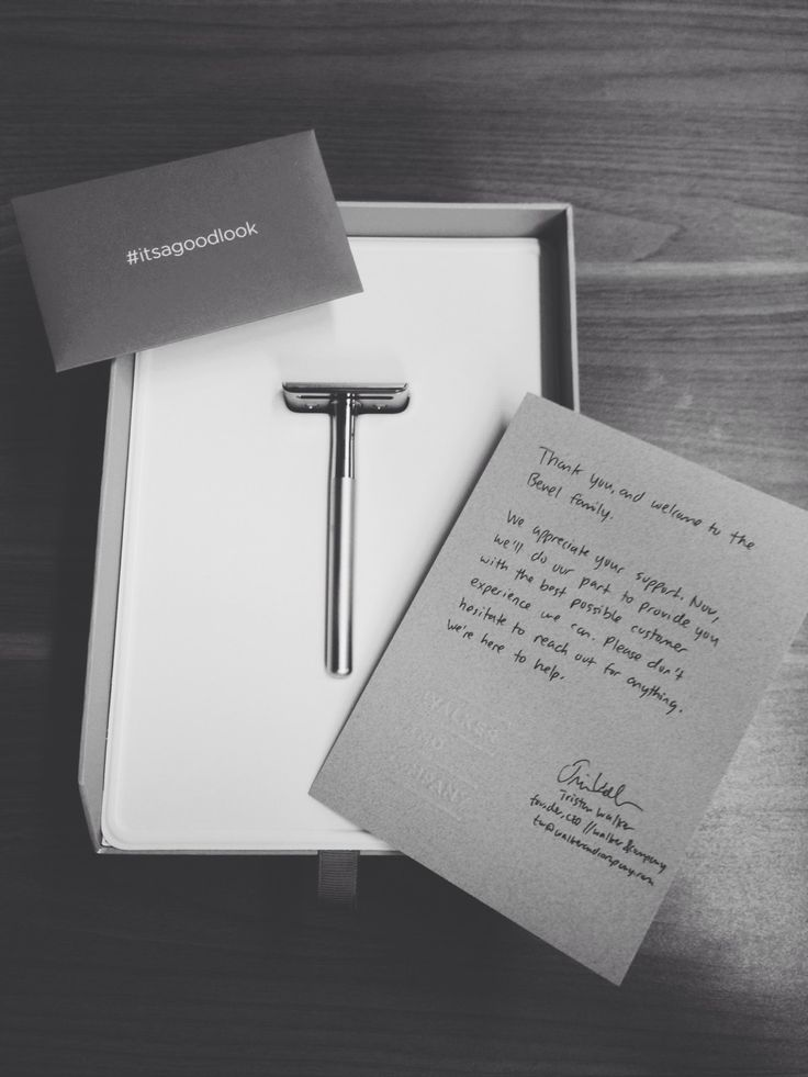 timoneil:  Stoked to receive my shipment from @Bevel! Fantastic packaging, product, and a hand-written thank you from the CEO. #itsagoodlook indeed. Can't wait to use this!  Wooooo!
