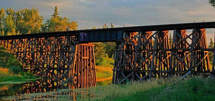 The Trestle Bridge, St. Albert, Alberta, Canada