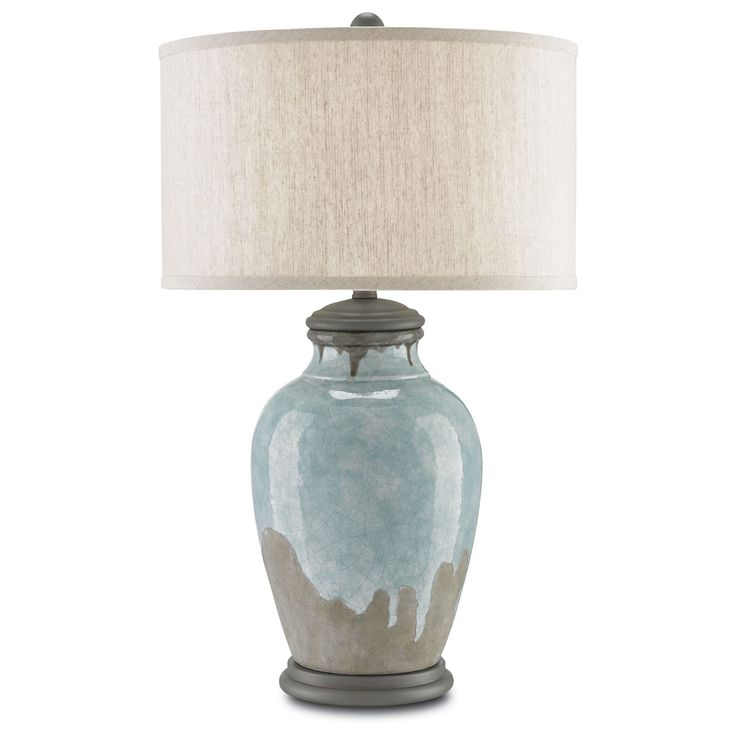 chatswood bluegreen gray and hiroshi gray onelight table lamp - Bedroom Table Lamps