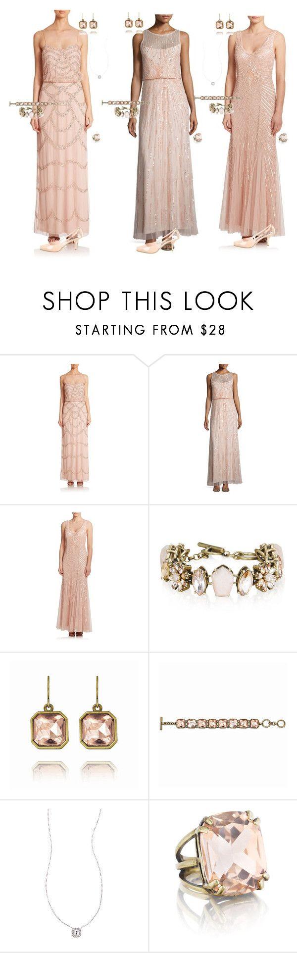 """Sparkle in Pink by Lexi Asha Personal Wedding Stylist"" by lexi-asha ❤ liked on Polyvore featuring Aidan Mattox, Aidan Aidan Mattox, Chloe + Isabel and Giorgio Armani"