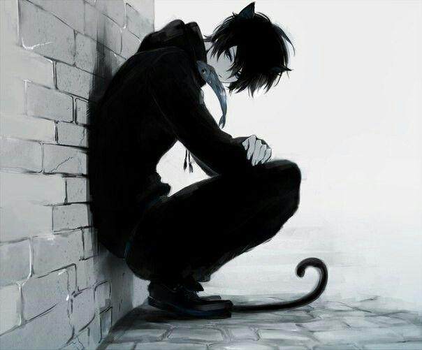 Черный кот аниме арты