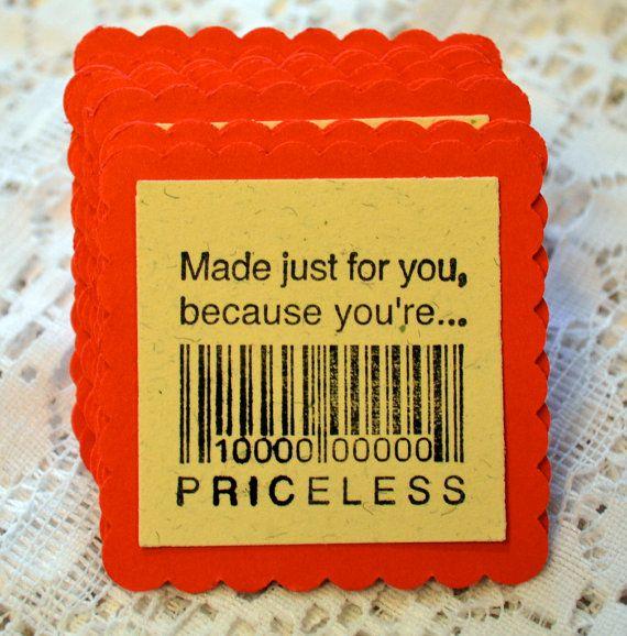 Cute gift tag idea for farewell preset!