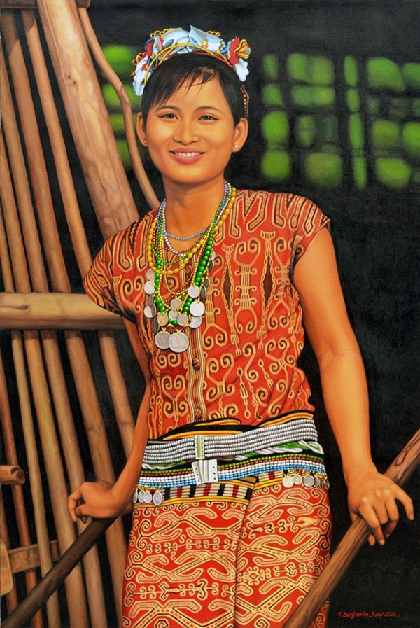 Senyum Manis, oil on canvas, 120 x 80 cm, 2012, T. Benyamin