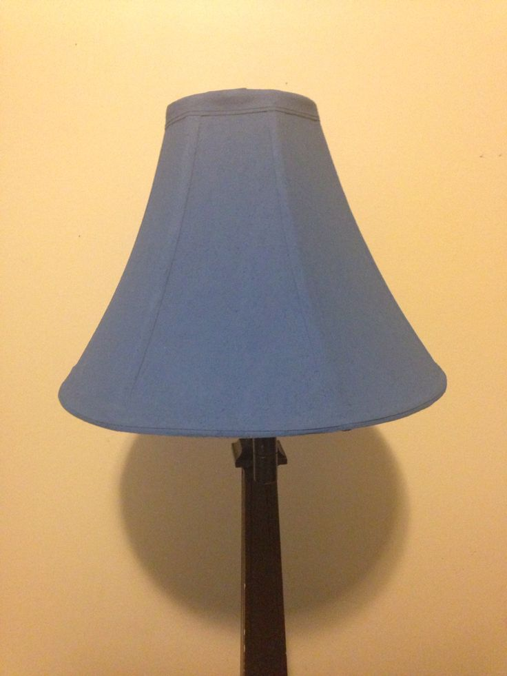 Fabric Lamp Shade Painted With Chalk Paint Waverly Chalk