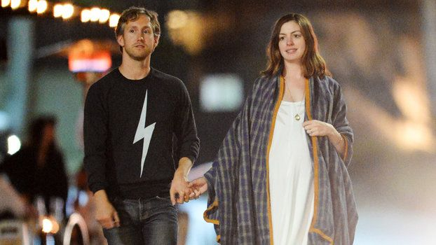 Pregnant Anne Hathaway Goes Boho Chic on Casual Date Night with Husband Adam Schulman