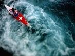 Elise Nicholas of Switzerland competes in the Kayak Slalom