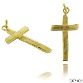 Σταυρός Κ14 από κίτρινο χρυσό. 32x17χιλ. #marizaart #greekart #art #greece