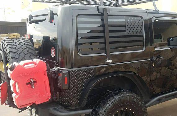 Flag Decal Set For Jk Jeep Wrangler Hardtop Jeep Wrangler Jeep Wrangler Jk Jeep