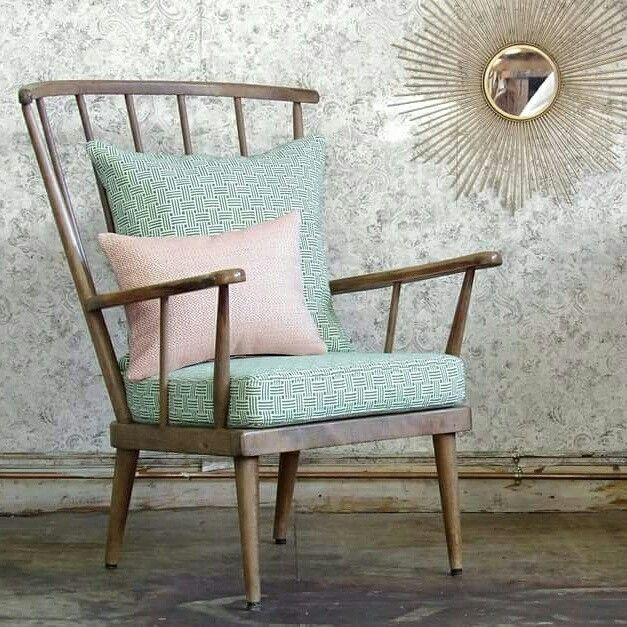 Fauteuil Eventail Baumann Tissu Vert Larsen Et Tissu Rose Scion Decoration Shabby Chic Deco Maison Deco
