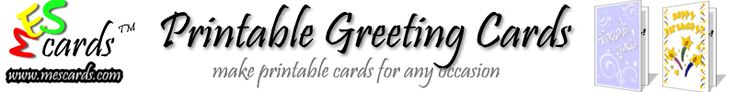 Free Printable Cards - printable birthday cards, holiday greeting cards and other cards to print!