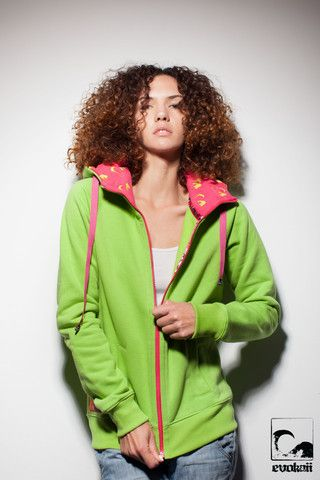 Girls | Wave - Zipper Hood - evokaii. fuel passion clothing.