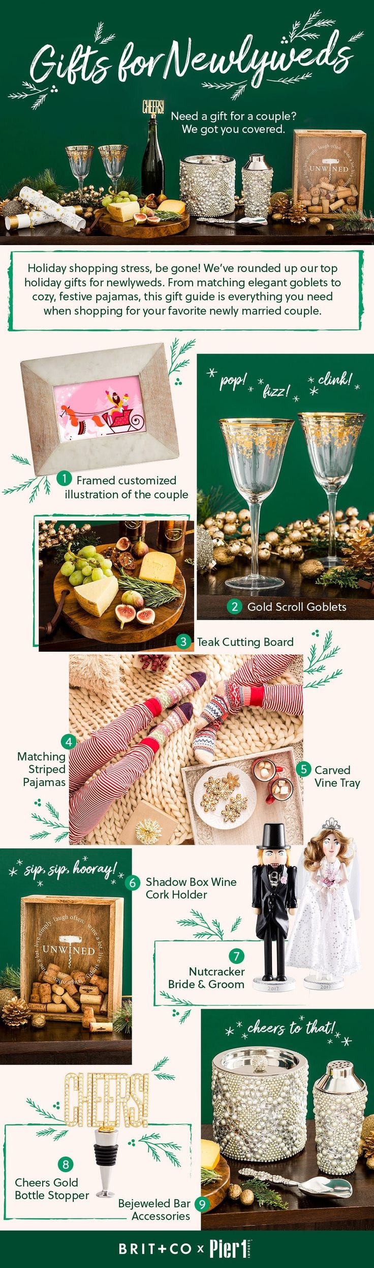 9 Festive Holiday Gifts for Newlyweds | Newlywed gifts ...