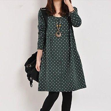 liangmeiyue vestido de manga larga informal ™ de las mujeres (más colores) - USD $ 18.59