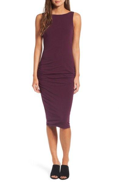 Main Image - James Perse High Neck Shirred Dress