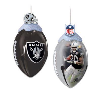 Oakland Raiders FootBells Ornament Collection #Raiders