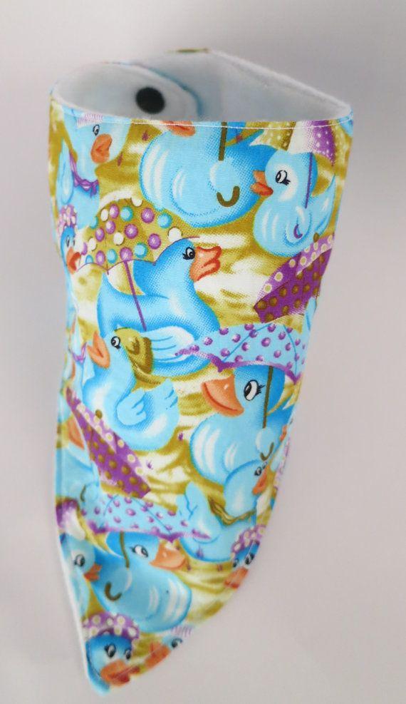 Bib Baby Boys Girls Dribble Bib Blue Ducks by SnazzyScrubHats