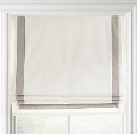 Roman blind with inset border                                                                                                                                                                                 More