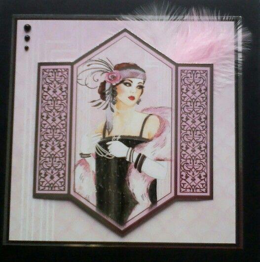 Hunkydory art Deco card