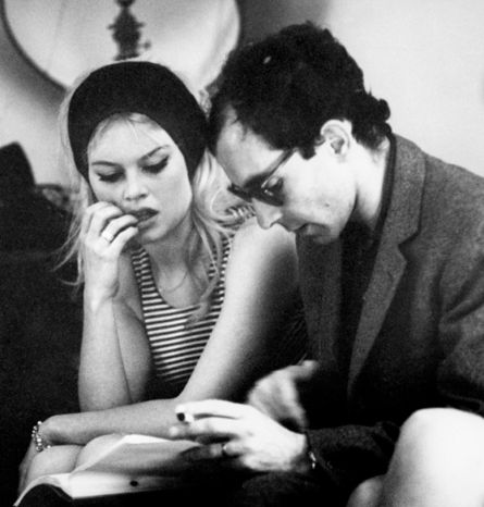 Jean-Luc Godard and Brigitte Bardot on Contempt.