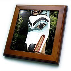 "Alaska, Ketchikan, Totem Park, Native American - US02 SAV0252 - Savanah Stewart - 8x8 Framed Tile by 3dRose. $22.99. Cherry Finish. Inset high gloss 6"" x 6"" ceramic tile.. Solid wood frame. Keyhole in the back of frame allows for easy hanging.. Dimensions: 8"" H x 8"" W x 1/2"" D. Alaska, Ketchikan, Totem Park, Native American - US02 SAV0252 - Savanah Stewart Framed Tile is 8"" x 8"" with a 6"" x 6"" high gloss inset ceramic tile, surrounded by a solid wood frame with pre-drilled keyh..."