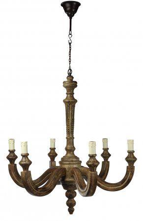 люстра на 6 рожков,78 Х в.85см (дерево) - купить в интернет магазине Интерьерная Лавка