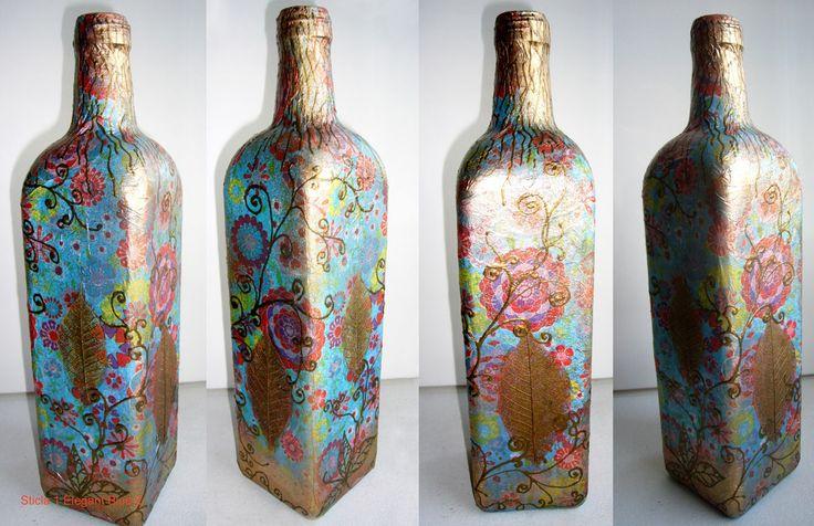 """Bottle """"Elegant Blue 2"""""""