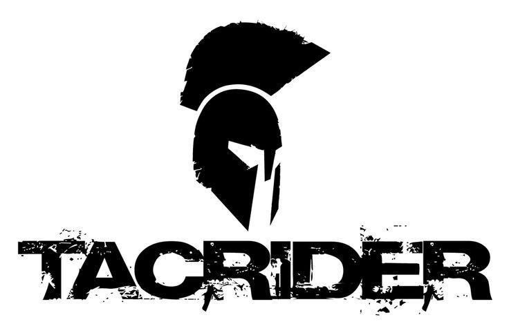 Tacrider. Super Cool Logo Design With A Retro Font. All