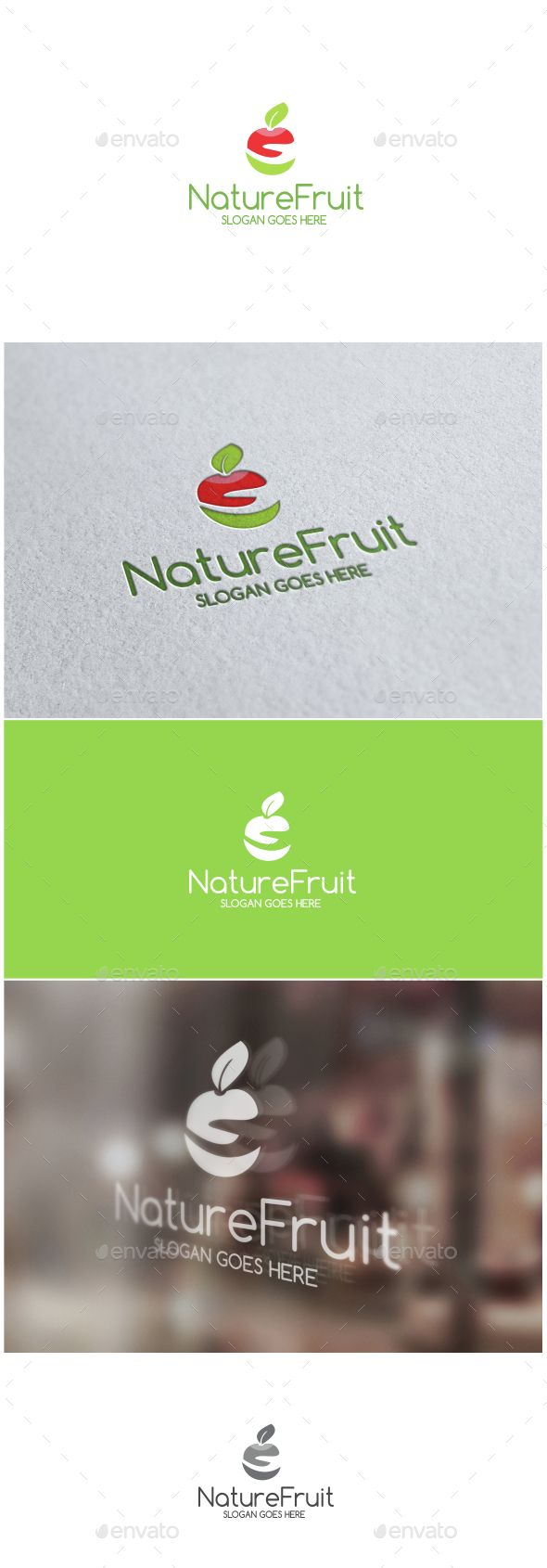Nature Fruit Logo — Vector EPS #healthy #tasty • Available here → https://graphicriver.net/item/nature-fruit-logo/14733970?ref=pxcr