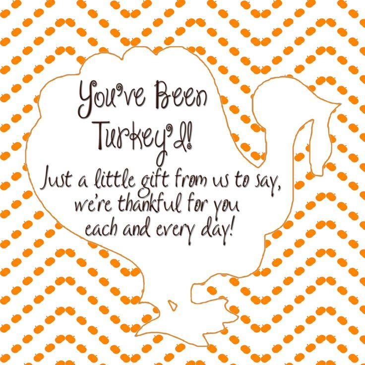 You've been Turkey'd Ding Dong Ditch label and ideas for the classroom!