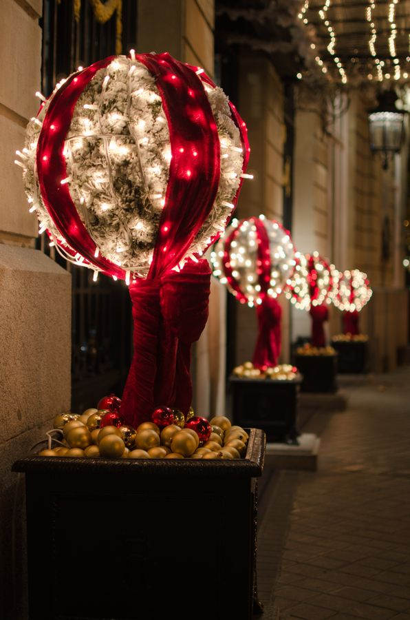 Change the colors and use as outdoor decor wedding ideas for Outdoor xmas decorations