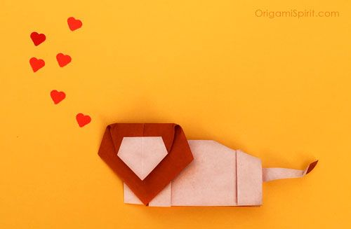 Origami Lion Love post image