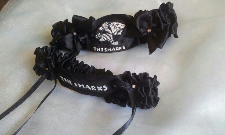 Exclusive Extra's Sharks rugby wedding garter exclusivextras.wordpress.com