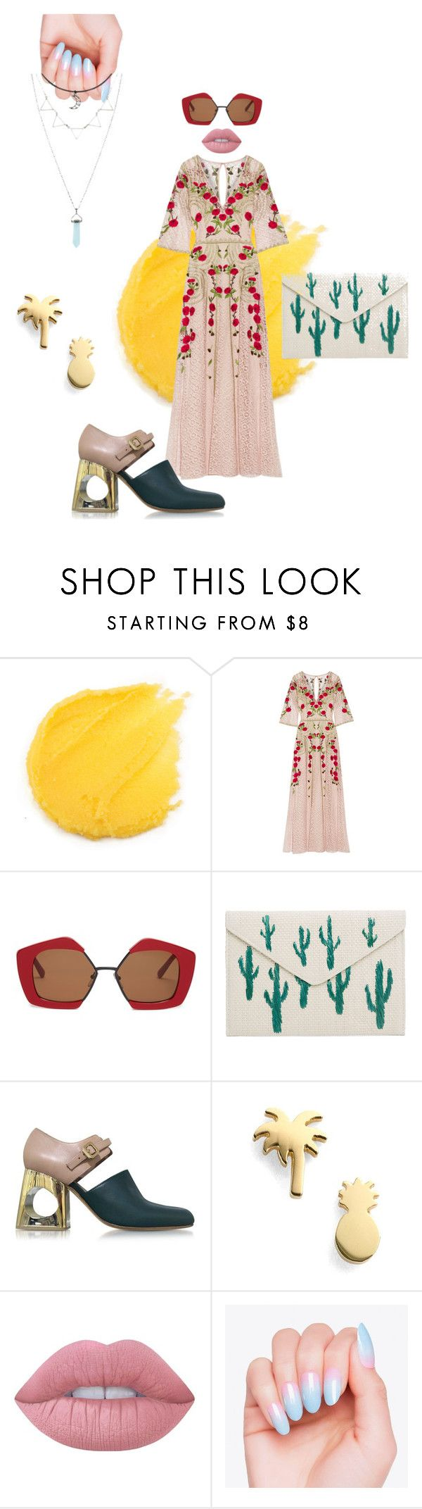 """Summer in Mexico"" by anabel-venegas on Polyvore featuring moda, Temperley London, Marni, MANGO y Lime Crime"