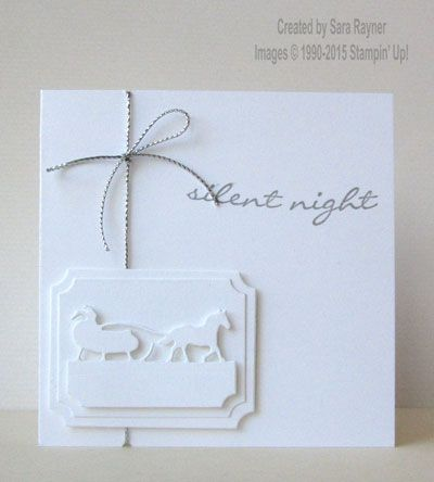 Sleigh ride labels card, using supplies from Stampin' Up! www.craftingandstamping.com #stampinup
