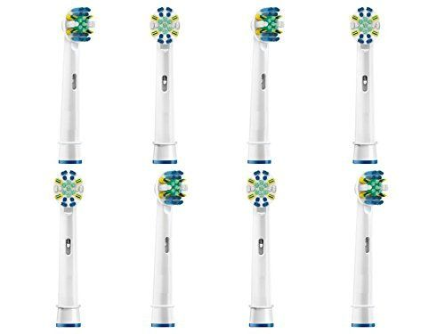 8-pcs Generic Oral-B FlossAction Toothbrush heads fit Braun Oral B Vitality Precision Clean Dual Clean Deep Sweep Professional Care Pro Health Sensitive Pro White Electric Handles