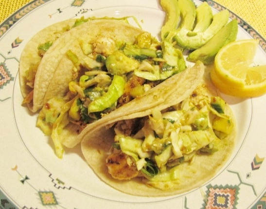 Fish Tacos with Spicy Pineapple Slaw from Cooking Ripe! | Cabbage ...