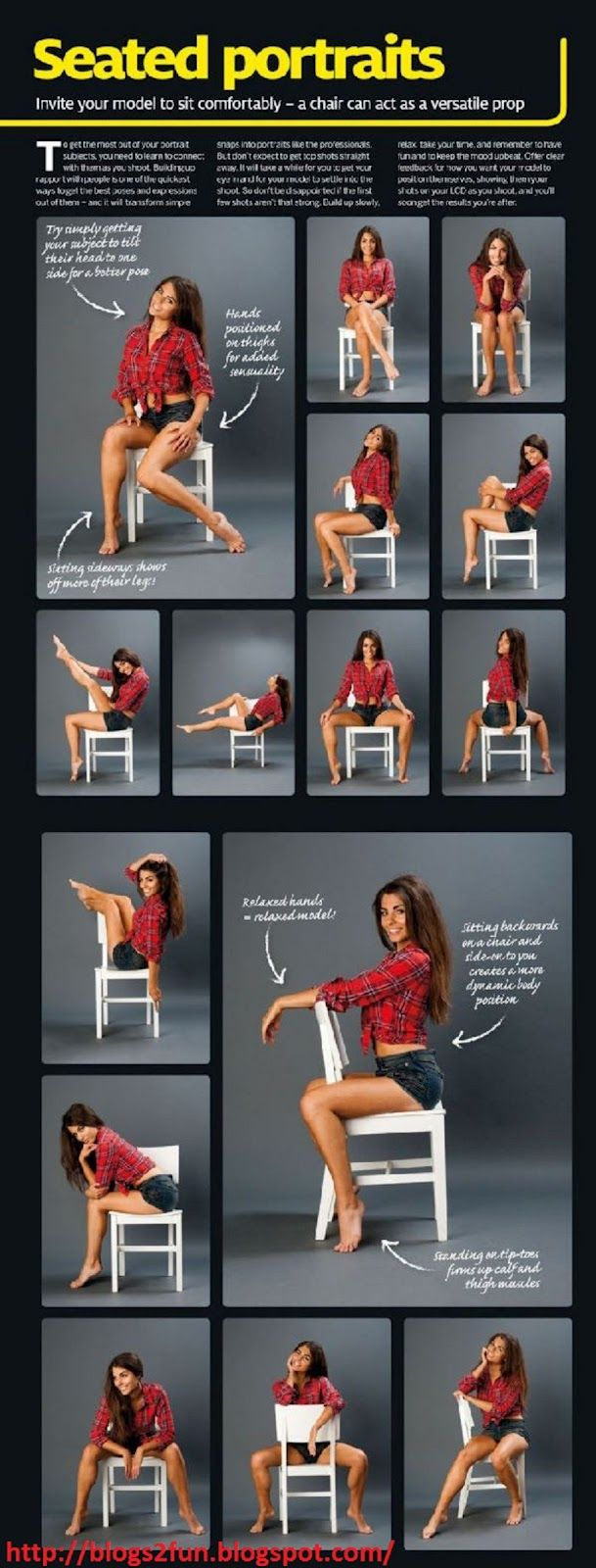 How to pose a Portrait - seated