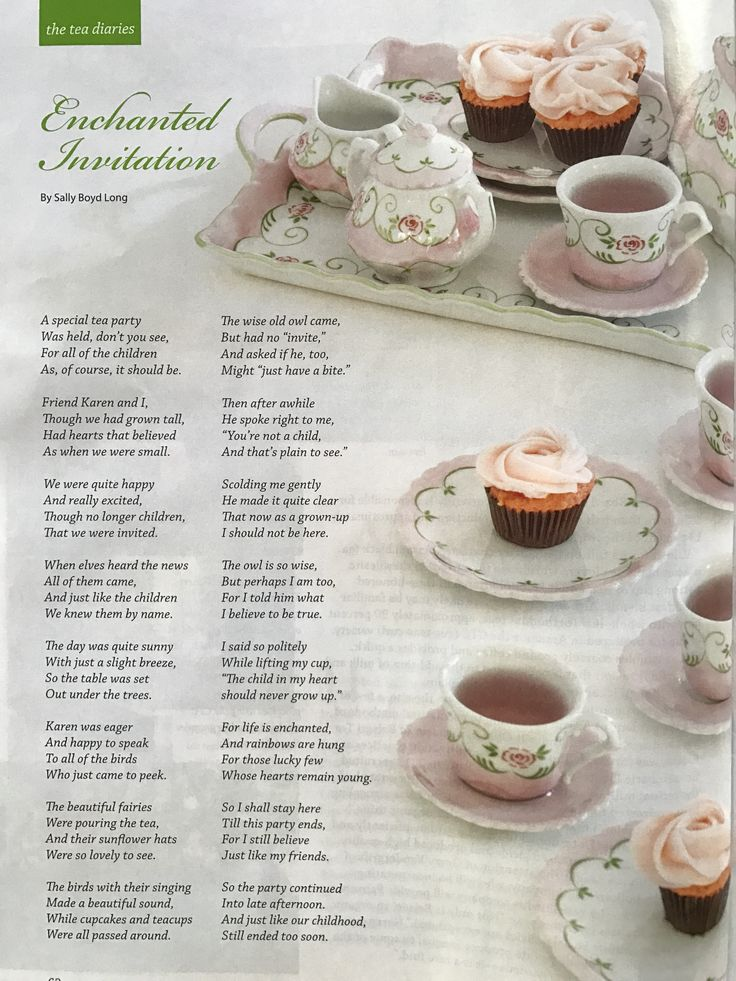 Enchanted Invitation by Sally Boyd Long via May/June 2017 Issue of Tea Time Magazine.