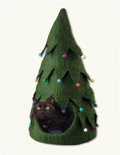 Christmas Tree Cat Cave                                                                                                                                                                                 More