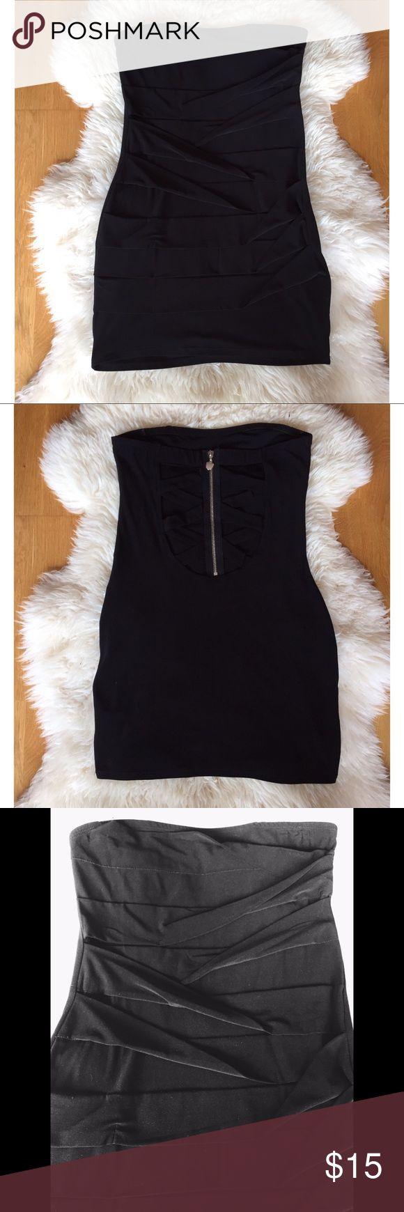Black dress very - Open Back Black Tube Dress