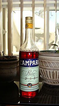 0g sugar/0g fat -Campari, produced in Italy and bottled at 25% ABV.Campari is an alcoholic liqueur, considered an apéritif (20.5%, 21%, 24%, 25%, or 28.5% ABV, depending on the country in which it is sold), obtained from the infusion of herbs and fruit (including chinotto and cascarilla) in alcohol and water. It is a bitter characterised by its dark red colour.  Campari is often used in cocktails and is commonly served with soda water, wine, or citrus juice. It is produced by the Alfredo…
