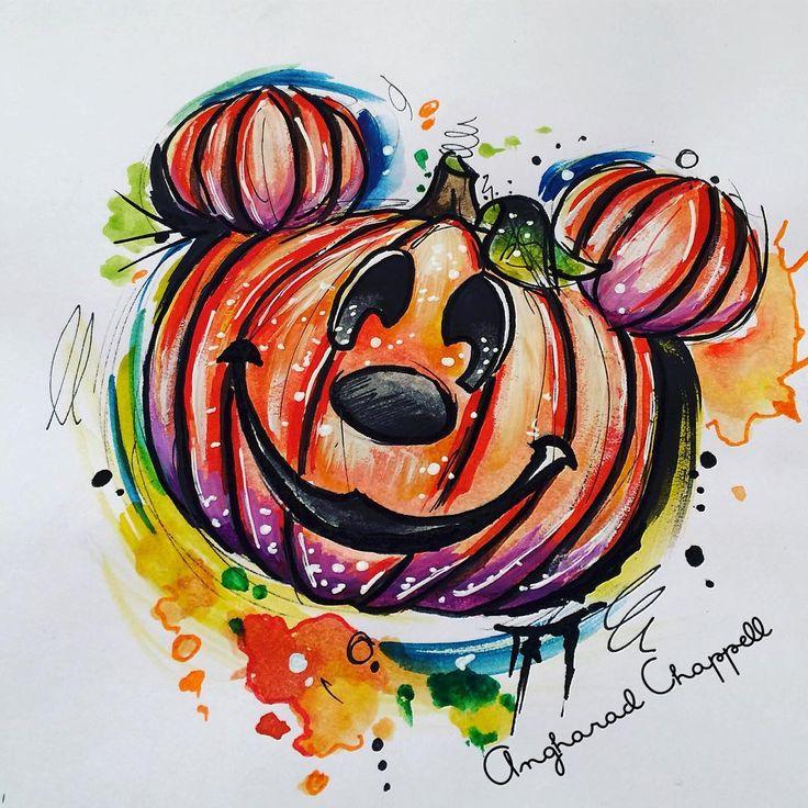 "85 Likes, 4 Comments - @ladychappelletattoos on Instagram: ""Mickey Mouse pumpkin!!  #pumpkintattoo. #pumpkintattoos  #pumpkindrawing #disneytattoo…"""