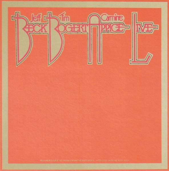 Beck, Bogert and Appice / LIVE