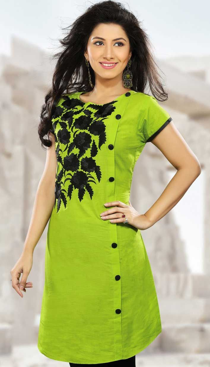 Beautiful Look Stylish Green Color #PartyWear #Kurti