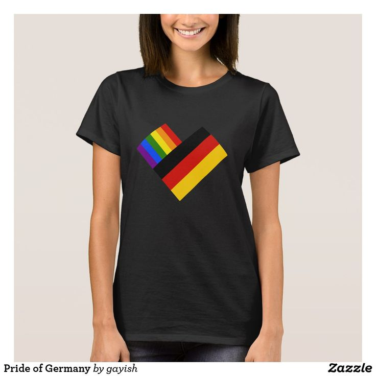 Pride of Germany t-shirt.  #gaypride #gayrights #tshits #prideshirt #pride #flags #heart #germany #deutschland #gaydeutscland #gaygermany