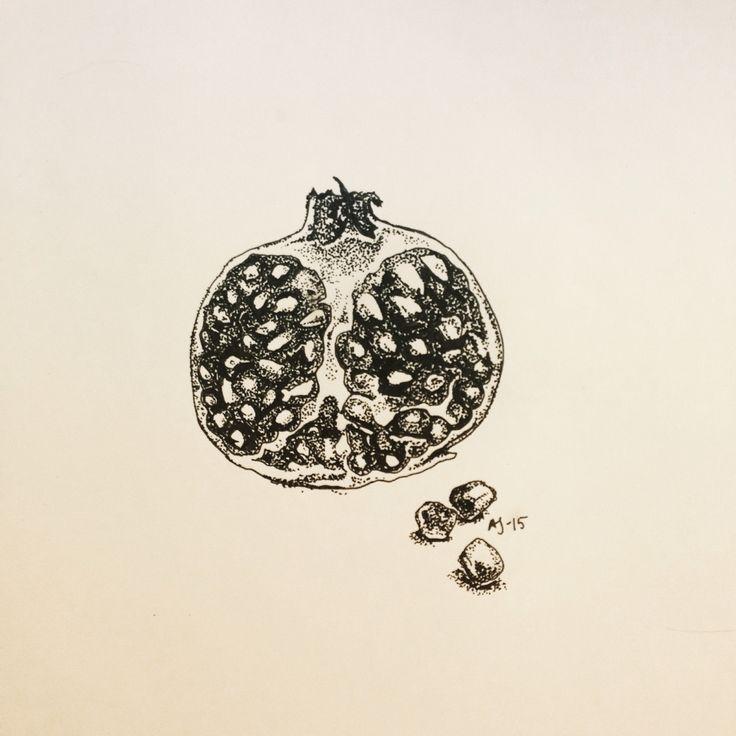 Pomegranate. Amanda Jenderbäck 2015.