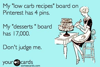 """My """"low carb recipes"""" board on Pinterest has 4 pins. My """"desserts"""""""