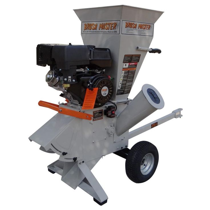 Brush Master 5 in. Dia Feed with Electric Start Commercial Duty Chromium Gas Wood Chipper