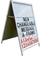 New Changeable Message A-Frame - #Standard #Signage