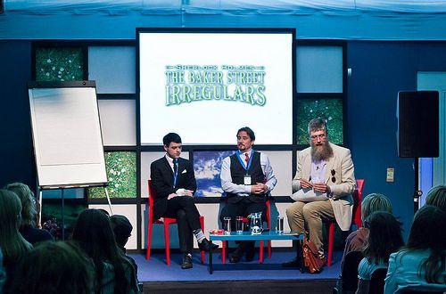 Dan Boultwood, Tony Lee and Philip Ardagh by Edinburgh International Book Festival, via Flickr